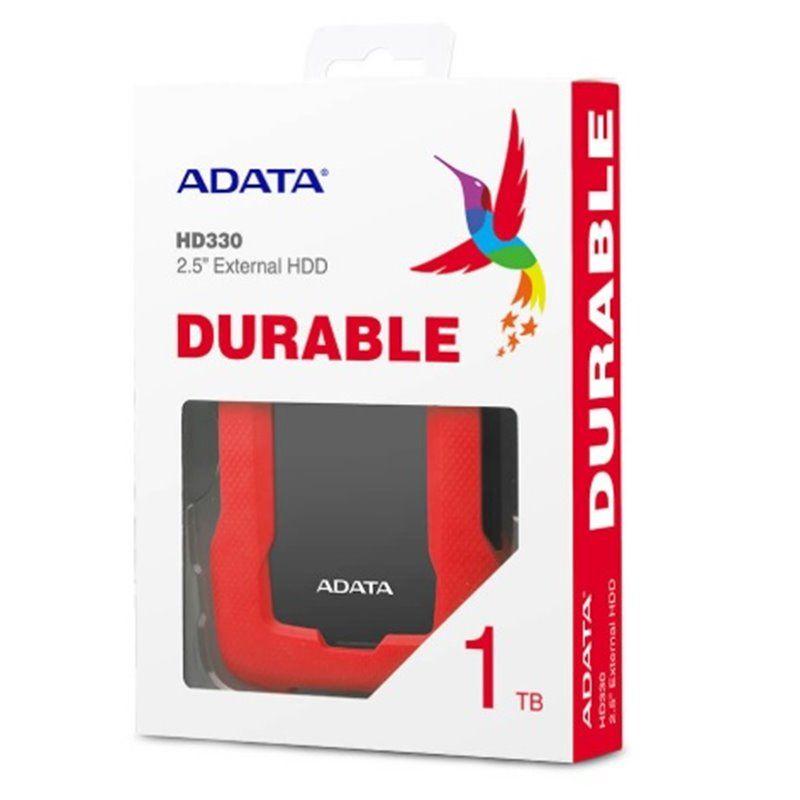 DISCO EXTERNO 2.5″, 1TB, A-DATA, AHD330-1TU31-CRD, ROJO ...